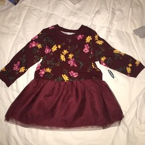 Old Navy Floral Tutu Dress-NWT-12-18 mths